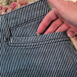 Christopher & Banks Skirts - CB Cotton Striped Jean Skirt